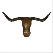 Deluxe Large Real Horn Steer Head