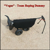 Vegas team roping dummy head and heel